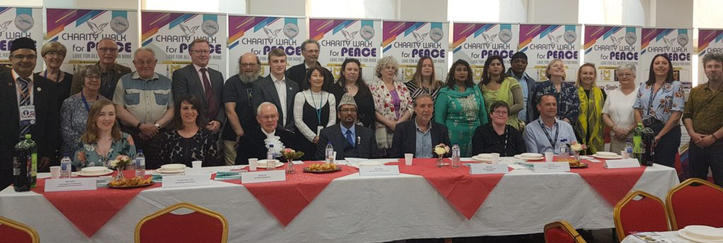 Pre Charity Walk For Peace 2019 Reception – Nottingham