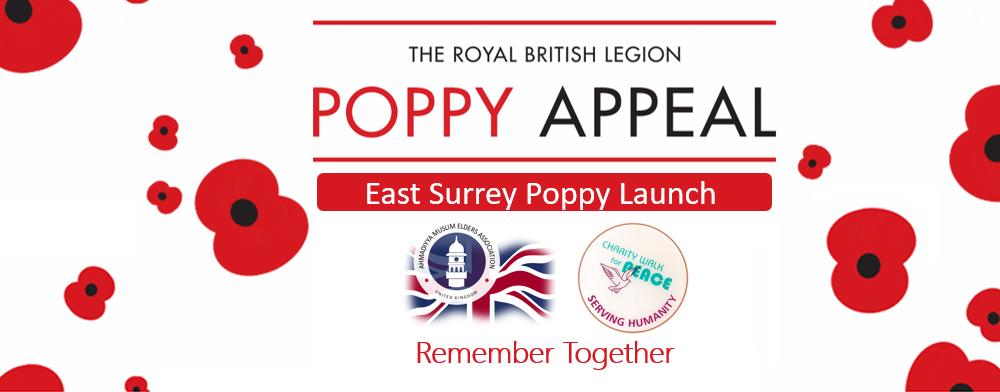 East Surrey Poppy Appeal Launch 2019