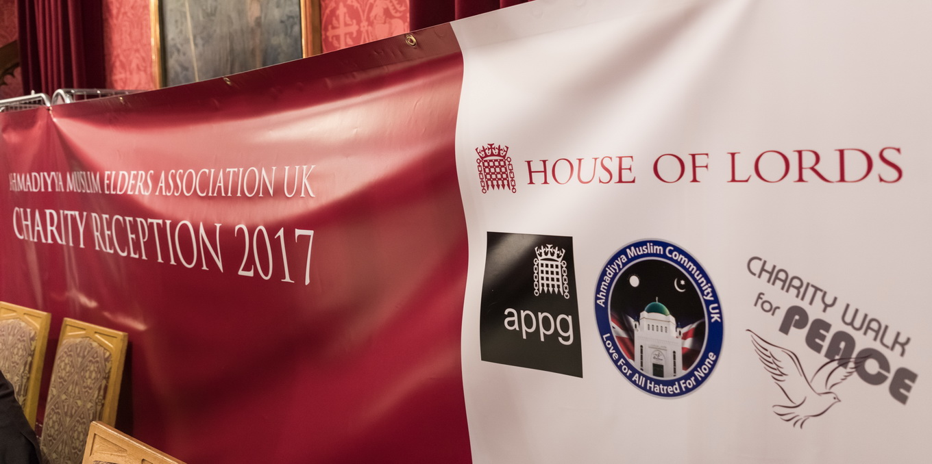 Charity Cheque Presentation at House Of Lords 2017