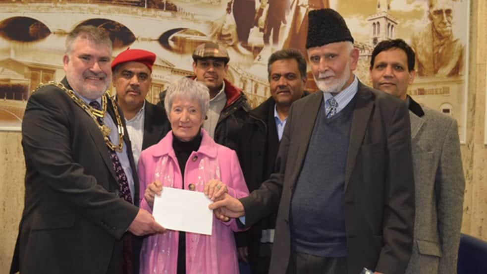 Charity Cheque Presentation To Bedford Borough Council