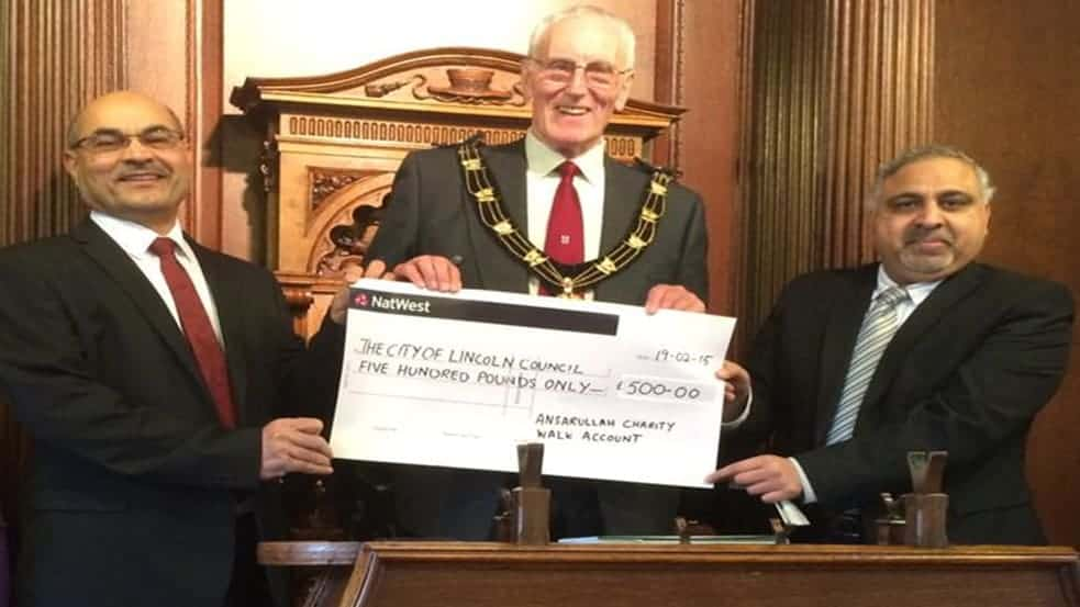 Charity Cheque Presentation At Guildhall Lincoln