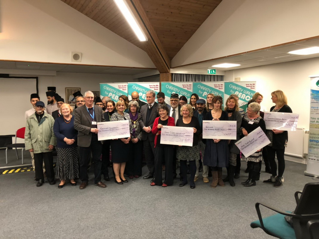 Charity Cheque Presentation at East Hampshire District Council