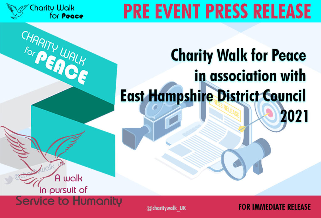 Charity Walk for Peace in association with East Hampshire District Council – 2021