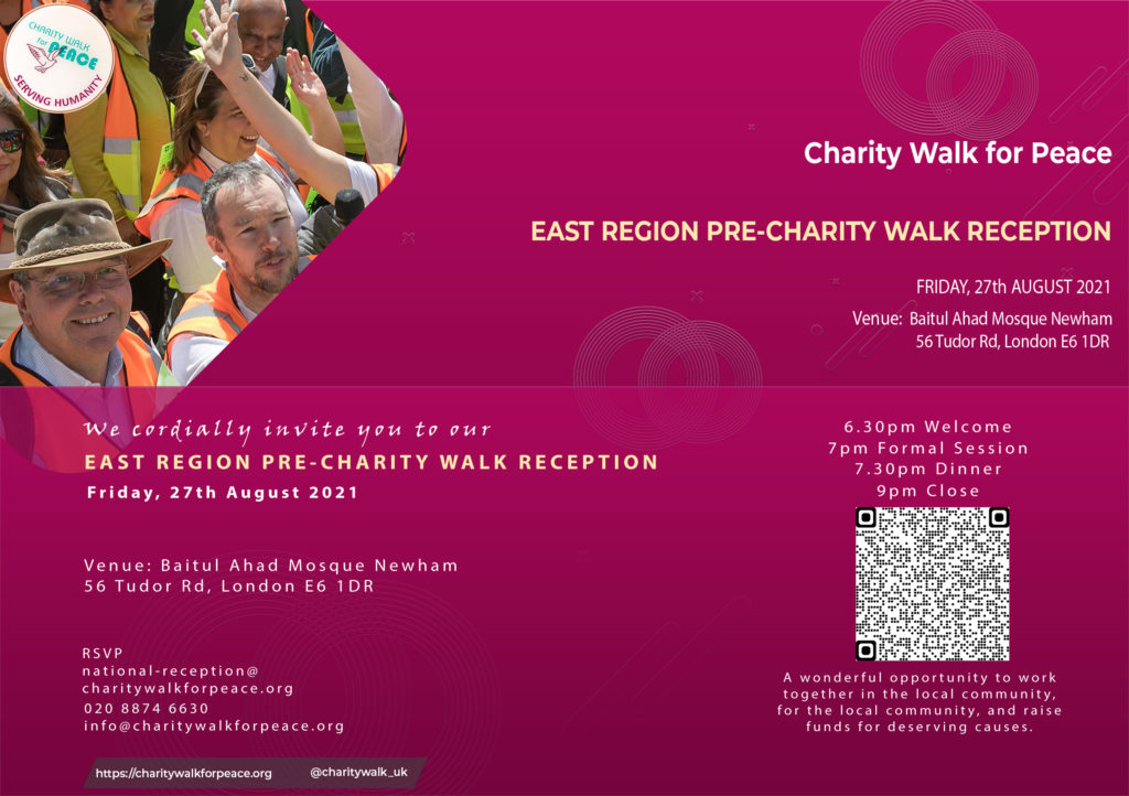 East Region Pre-Charity Walk Reception   2020 – 2021