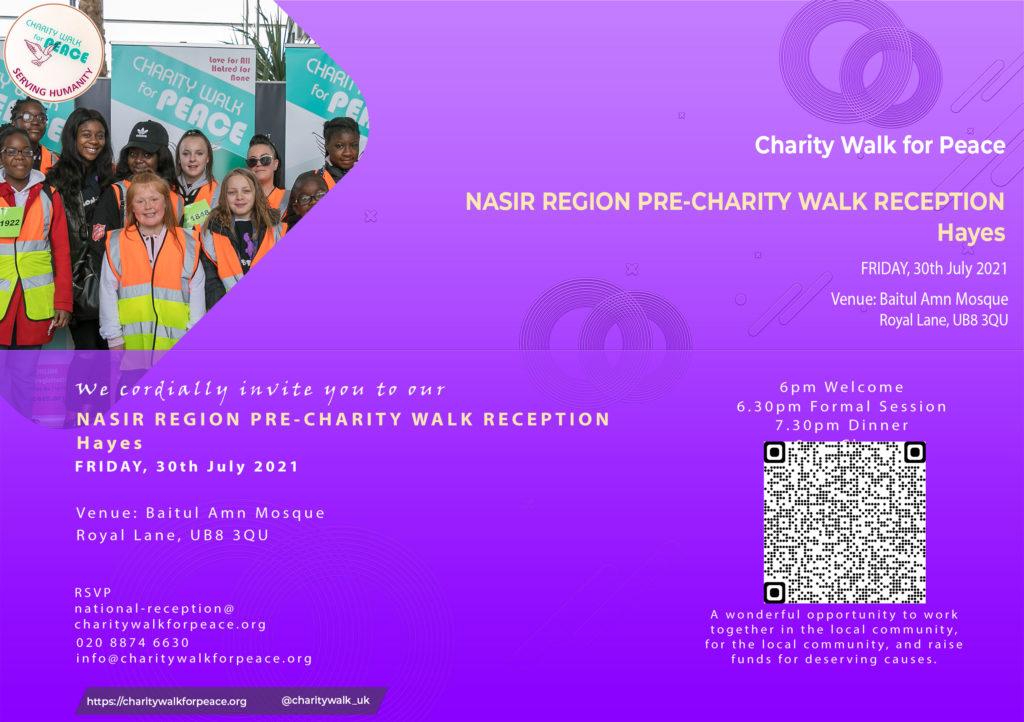 Nasir Region – Hayes – Pre-Charity Walk Reception | 2020 – 2021