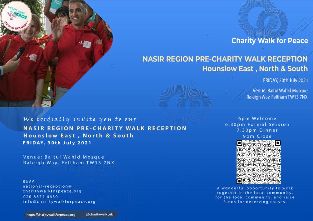 Nasir Region – Hounslow East-North & South – Pre-Charity Walk Reception   2020 – 2021