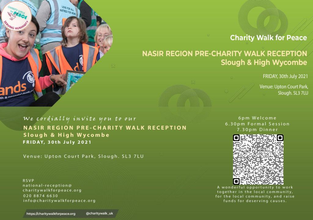 Nasir Region – Slough & High Wycombe – Pre-Charity Walk Reception | 2020 – 2021