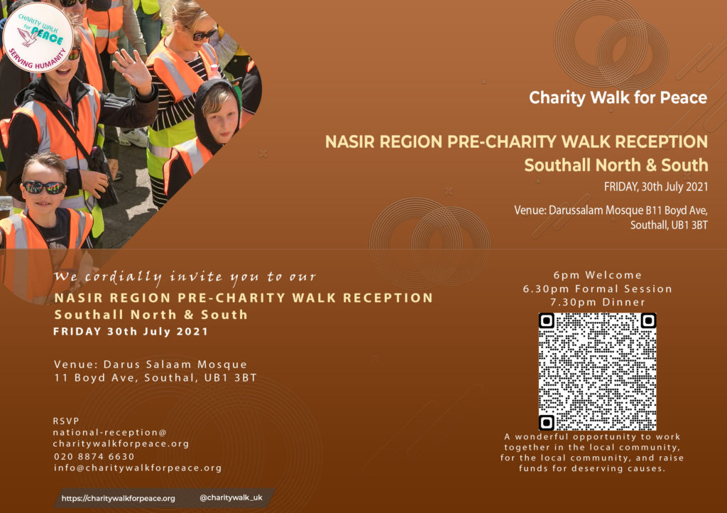 Nasir Region – Southall North & South – Pre-Charity Walk Reception | 2020 – 2021