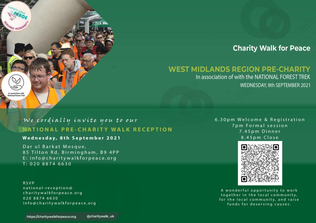 West Midlands – Pre-Charity Walk Reception   2020 – 2021