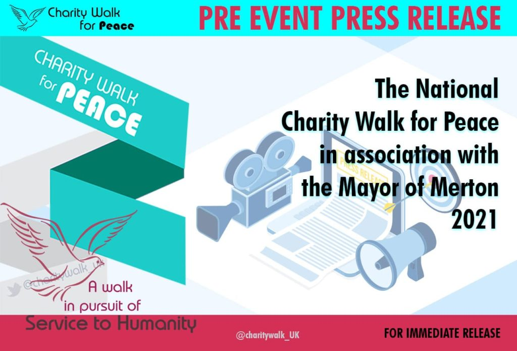 The National Charity Walk for Peace in association with the Mayor of Merton – 2021