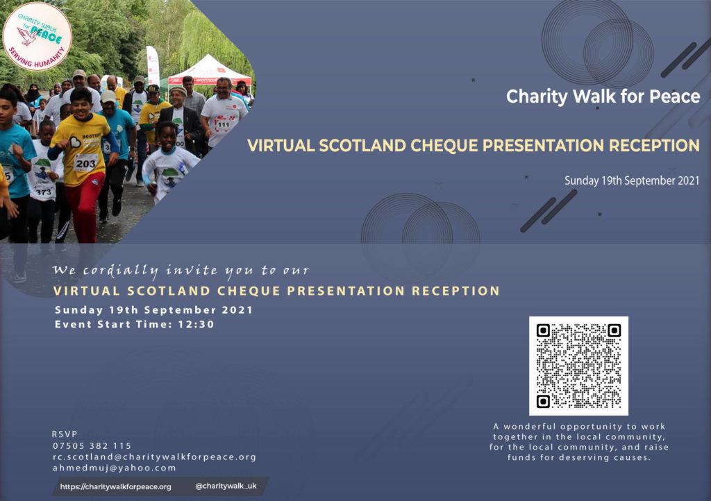 Scotland Region – Cheque Presentation Ceremony   2020 – 2021