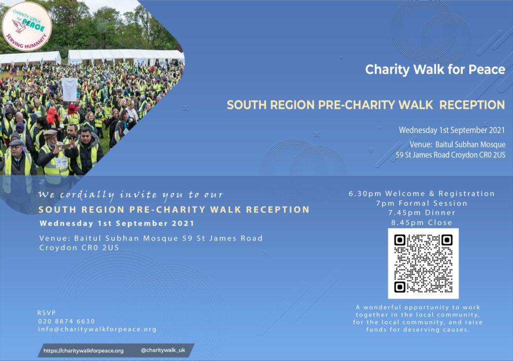 South Region – Pre-Charity Walk Reception   2020 – 2021